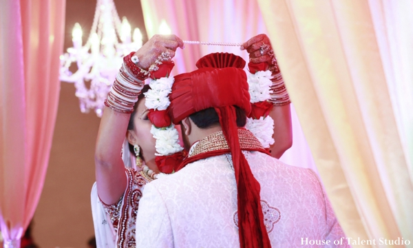 Indian wedding bride groom ceremony in Huntington, New York Indian Wedding by House of Talent Studio
