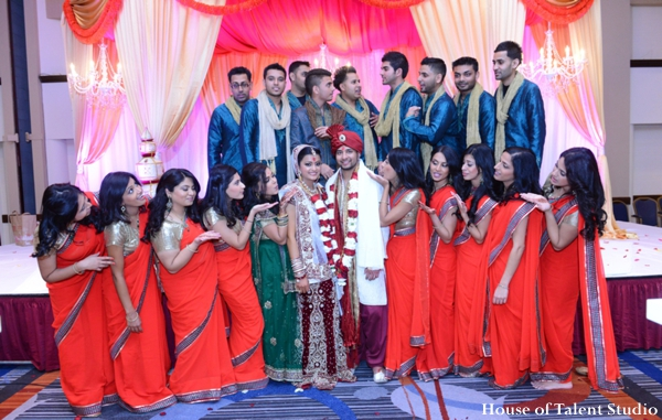 Indian wedding bride groom lenghas in Huntington, New York Indian Wedding by House of Talent Studio