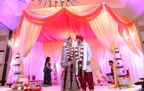 Indian wedding bride groom mandap ceremony in Huntington, New York Indian Wedding by House of Talent Studio