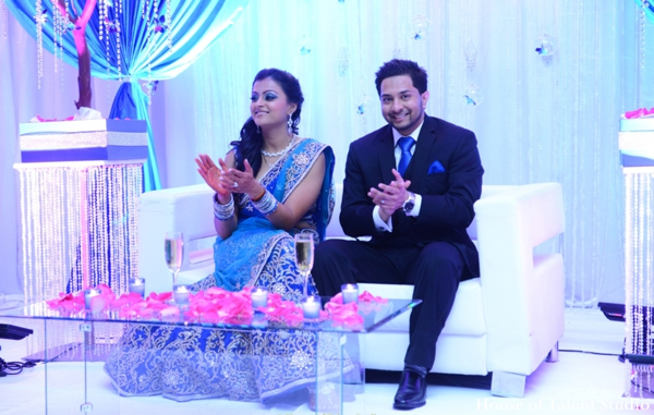 Indian wedding bride groom reception in Huntington, New York Indian Wedding by House of Talent Studio