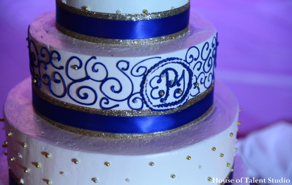 Indian wedding cake reception inspiration in Huntington, New York Indian Wedding by House of Talent Studio