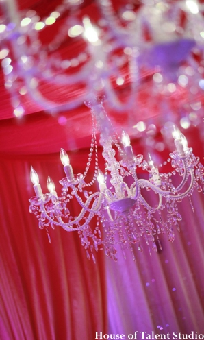 Indian wedding mandap decor chandelier in Huntington, New York Indian Wedding by House of Talent Studio