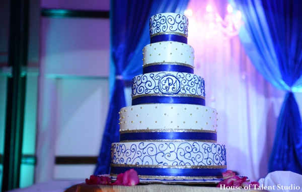 white,blue,cakes and treats,Lighting,House of Talent Studio,indian wedding cake,reception wedding cake,inspiration for indian wedding cake