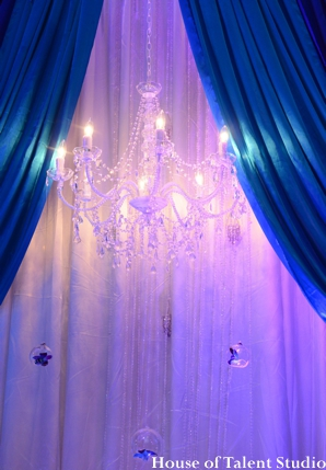 Indian wedding reception lighting in Huntington, New York Indian Wedding by House of Talent Studio