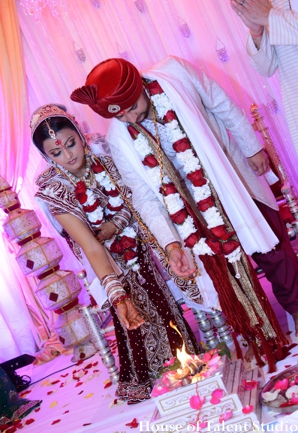 Indian wedding traditional ceremony bride groom in Huntington, New York Indian Wedding by House of Talent Studio