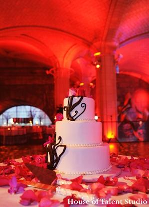 Indian-wedding-cake-inspiration-red-lighting