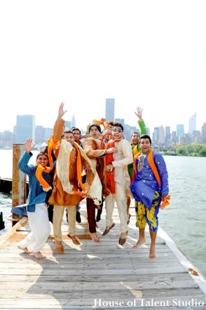 Indian-wedding-grooms-party-portrait