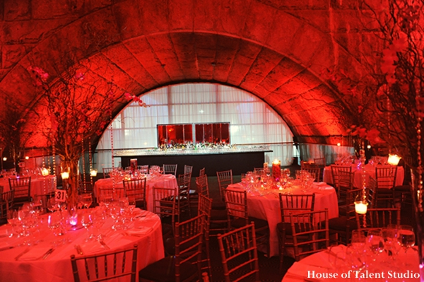 Indian-wedding-reception-red-lighting-venue