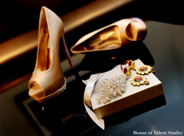 Indian-wedding-shoes-gold-satin-earrings