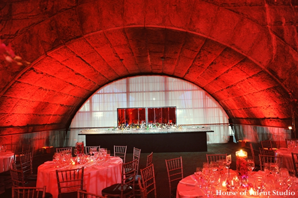 Indian-wedding-venue-reception-red-lighting