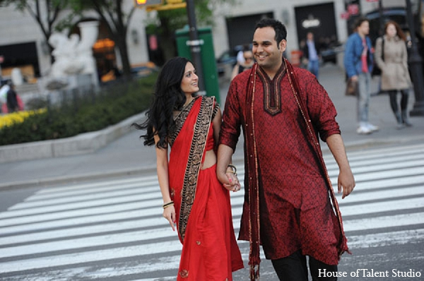 Indian engagement bride groom photography in Sunday Sweetheart Winners ~ Pooja & Devang by House of Talent Studios