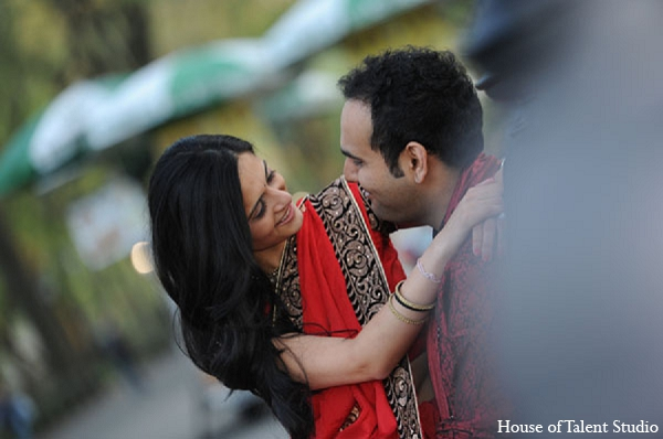 Indian wedding bride engagement groom in Sunday Sweetheart Winners ~ Pooja & Devang by House of Talent Studios
