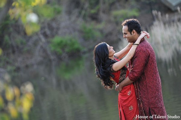 Indian wedding groom bride engagement in Sunday Sweetheart Winners ~ Pooja & Devang by House of Talent Studios