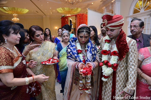 Indian ceremony wedding groom bride in Aberdeen, New Jersey Indian Wedding by House of Talent Studio