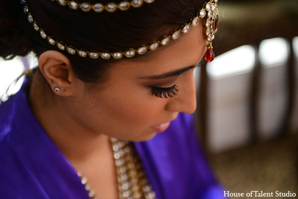 Indian wedding bridal hair makeup in Aberdeen, New Jersey Indian Wedding by House of Talent Studio
