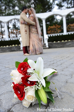Indian wedding bride groom bouquet in Aberdeen, New Jersey Indian Wedding by House of Talent Studio