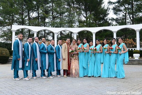 Indian wedding bride groom bridal party in Aberdeen, New Jersey Indian Wedding by House of Talent Studio