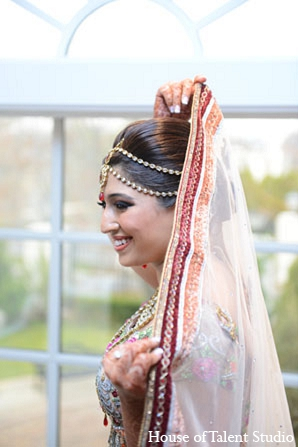 Indian wedding bride jewelry makeup in Aberdeen, New Jersey Indian Wedding by House of Talent Studio