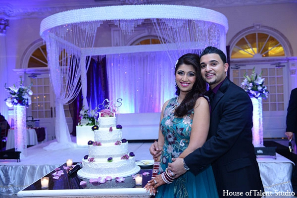 Indian wedding cake bride groom in Aberdeen, New Jersey Indian Wedding by House of Talent Studio