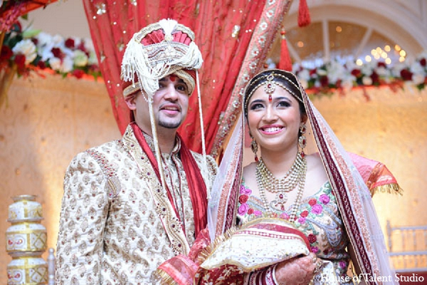 Indian wedding ceremony bride groom in Aberdeen, New Jersey Indian Wedding by House of Talent Studio