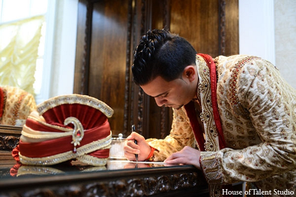 Indian wedding groom photography attire in Aberdeen, New Jersey Indian Wedding by House of Talent Studio