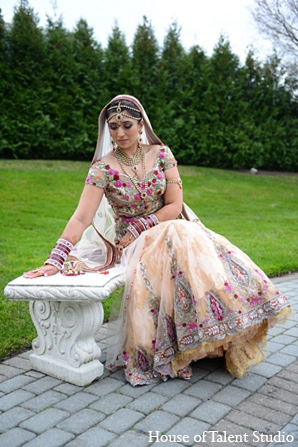Indian wedding portraits bride fashion in Aberdeen, New Jersey Indian Wedding by House of Talent Studio
