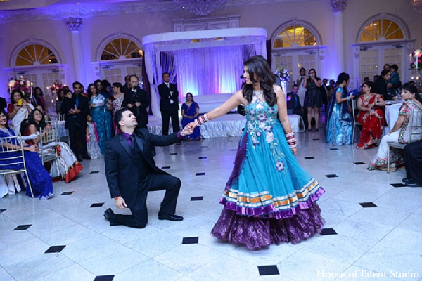 Indian wedding reception bride groom in Aberdeen, New Jersey Indian Wedding by House of Talent Studio
