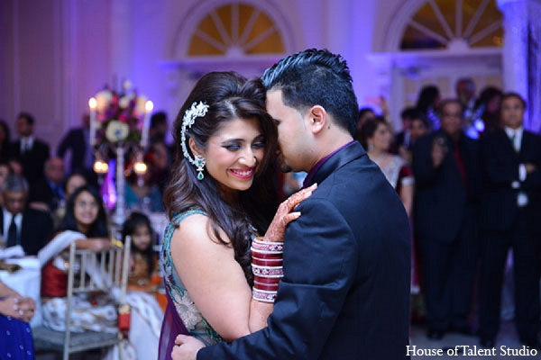 Indian wedding reception groom bride in Aberdeen, New Jersey Indian Wedding by House of Talent Studio