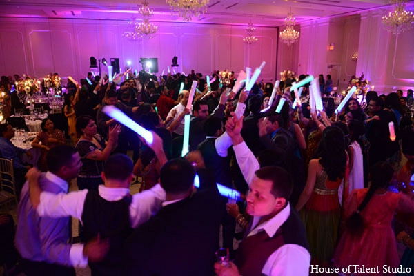 Indian wedding reception lighting favors in Aberdeen, New Jersey Indian Wedding by House of Talent Studio