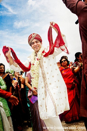 Indian wedding groom baraat ceremony in Temple, Texas Indian Wedding by Humza Yasin Photography