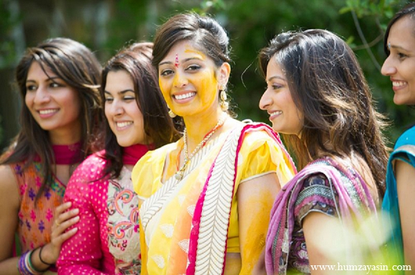 Indian wedding portrait pithi haldi bride in Temple, Texas Indian Wedding by Humza Yasin Photography
