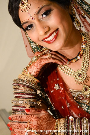 Indian wedding bridal fashion hair makeup jewelry in Houston, Texas Indian Wedding by Image N Motion Studio