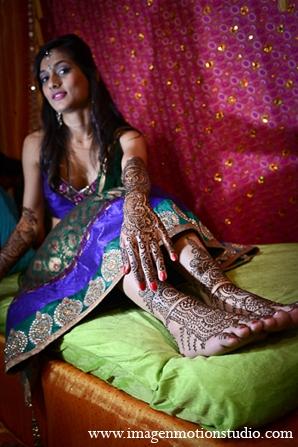Indian wedding bridal mehndi feet bride fashion in Houston, Texas Indian Wedding by Image N Motion Studio