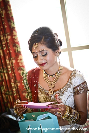 Indian wedding bride details ideas letter in Houston, Texas Indian Wedding by Image N Motion Studio