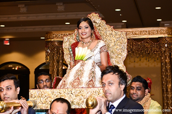 Indian wedding ceremony bride doli gold in Houston, Texas Indian Wedding by Image N Motion Studio