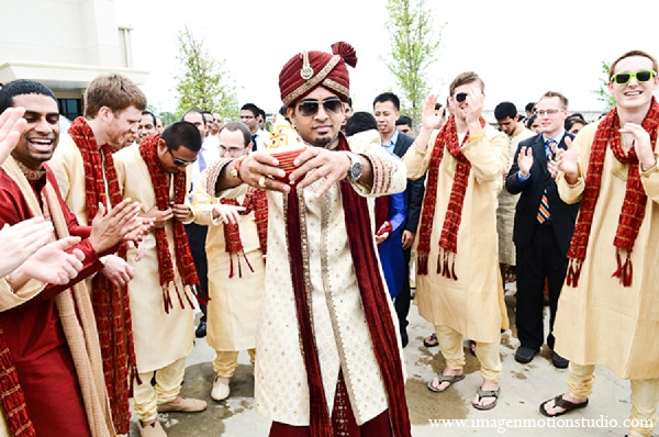 Indian wedding groom baraat photography in Houston, Texas Indian Wedding by Image N Motion Studio
