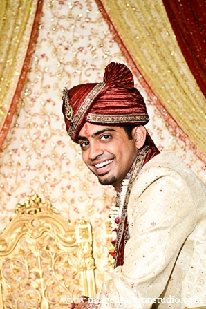 Indian wedding groom fashion traditional portraits in Houston, Texas Indian Wedding by Image N Motion Studio