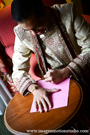 Indian wedding groom letters details ideas in Houston, Texas Indian Wedding by Image N Motion Studio