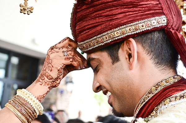 Indian wedding groom mother baraat tradition in Houston, Texas Indian Wedding by Image N Motion Studio