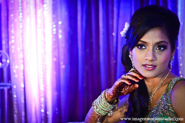 Indian wedding reception bride hair makeup in Houston, Texas Indian Wedding by Image N Motion Studio