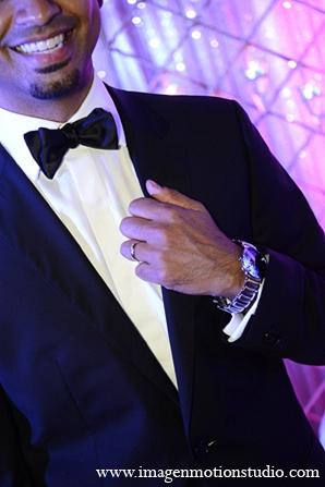Indian wedding reception groom fashion tuxedo in Houston, Texas Indian Wedding by Image N Motion Studio