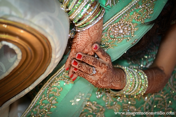 Indian wedding reception lengha bridal mehndi bride in Houston, Texas Indian Wedding by Image N Motion Studio