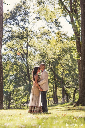 Indian wedding engagement photos forest bride groom in Sunday Sweetheart Winners ~ Gayatri & Sumeet by Imagique