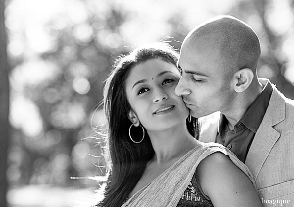Indian wedding engagement portraits black white in Sunday Sweetheart Winners ~ Gayatri & Sumeet by Imagique
