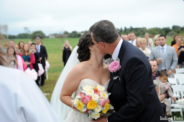 Bridal bouquet in Orient Point, New York Indian Fusion Wedding by Indigo Foto