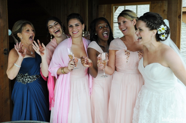 Bridal party photos in Orient Point, New York Indian Fusion Wedding by Indigo Foto
