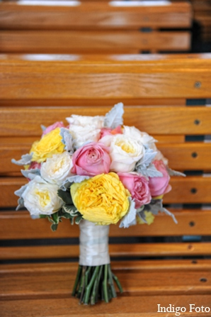 Brides bouquet in Orient Point, New York Indian Fusion Wedding by Indigo Foto