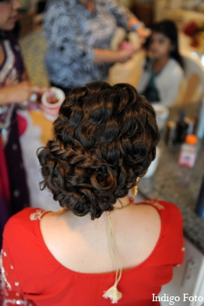 Indian bride hair in Orient Point, New York Indian Fusion Wedding by Indigo Foto