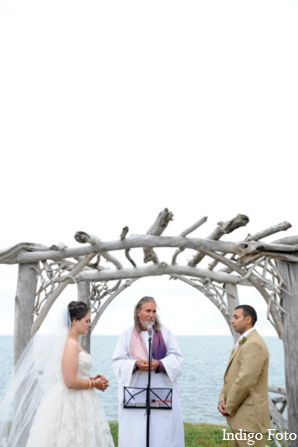 Indian fusion wedding ceremony in Orient Point, New York Indian Fusion Wedding by Indigo Foto