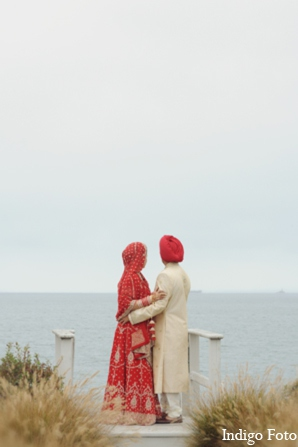 Indian wedding beach photos in Orient Point, New York Indian Fusion Wedding by Indigo Foto